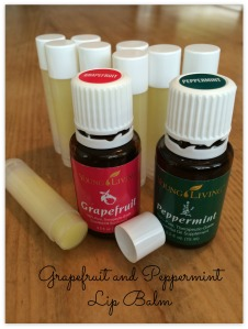 grapefruit peppermint lip balm