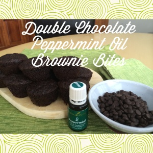 Double Chocolate Peppermint Brownie Bites